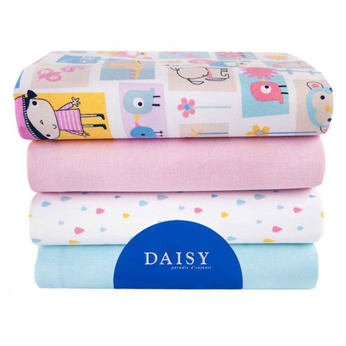 Многоразовые пеленки Daisy перкаль 90х145 комплект 4 шт дракончикПеленки, клеенки<br>