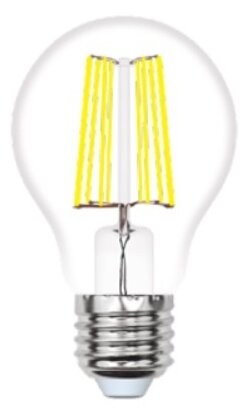 Led-a60-10w/ww/e27/cl pls02wh лампа светодиодная. форма a, прозрачная. серия sky. теплый белый свет (3000K). Картон. ТМ Uniel
