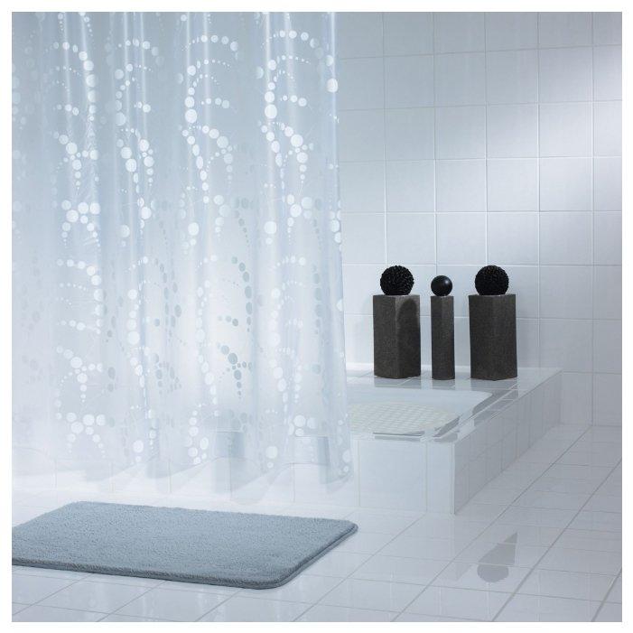 Штора для ванных комнат RIDDER Dots 32371 белый 180*200