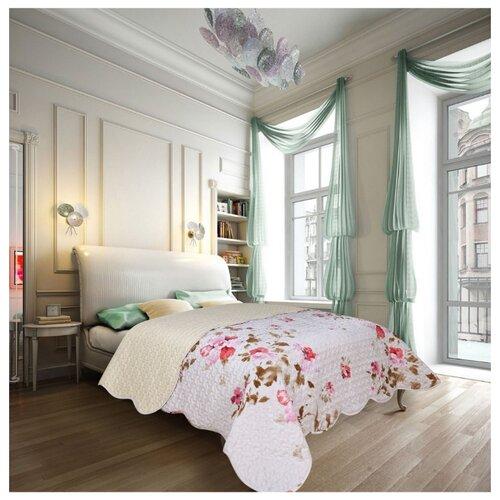 Покрывало Amore Mio Nice 2 85835 220 х 240 см, белый/розовый комплект евростандарт amore mio антик