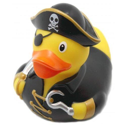 Купить Игрушка для ванной FUNNY DUCKS Пират уточка (1835) черный/желтый, Игрушки для ванной