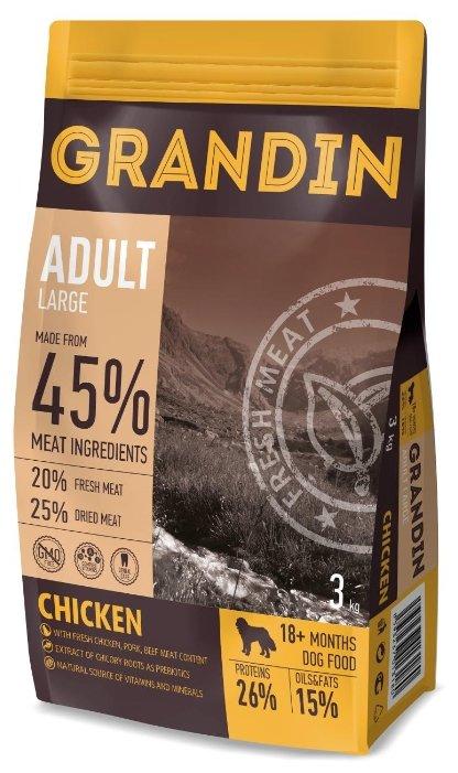 Корм для собак Grandin (3 кг) Adult Large