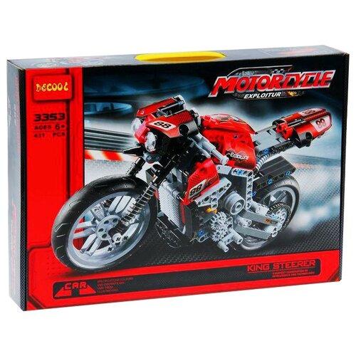 Купить Конструктор Jisi bricks (Decool) Technic 3353 Мотоцикл, Конструкторы