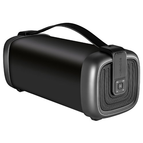 Портативная акустика Ginzzu GM-878B черный колонка ginzzu gm 878b