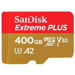 Карта памяти SanDisk Extreme PLUS microSDXC Class 10 UHS Class 3 V30 A2 170MB/s + SD adapter