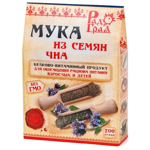Мука РадоГрад из семян чиа, 0.2 кг