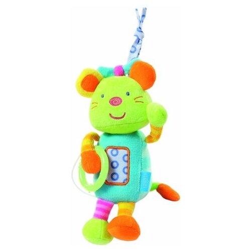 Купить Подвесная игрушка Fehn Мышка голубой/зеленый, Подвески