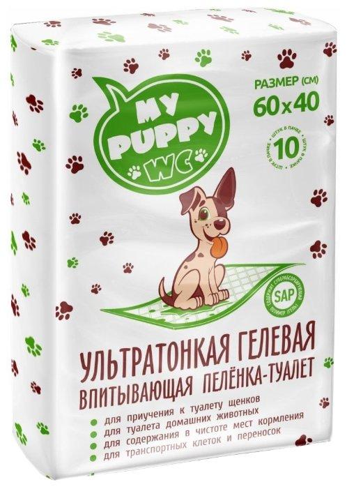 Пеленки для собак впитывающие Медмил My Puppy WC 60х40 см