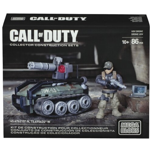 Конструктор Mega Bloks Call of Duty CNG75 Беспилотный наземный аппарат Дрон