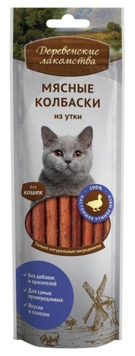 Лакомство для кошек Деревенские Лакомства Мясные колбаски из утки
