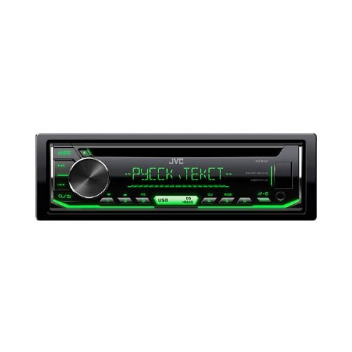 Фото - Автомагнитола JVC KD-R497, черная автомагнитола cd jvc kd r497 1din 4x50вт