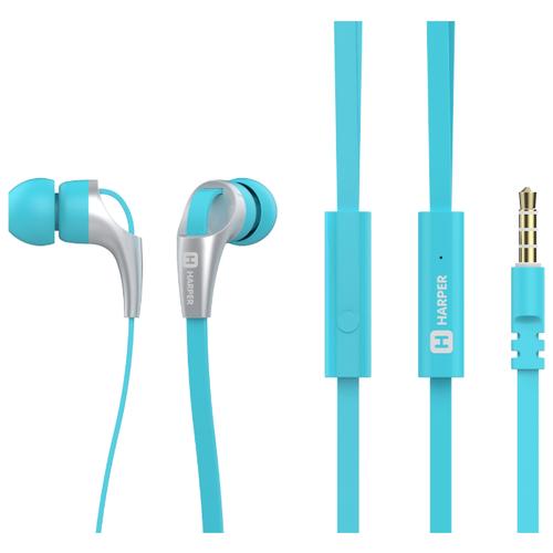 Наушники HARPER HV-404 голубойНаушники и Bluetooth-гарнитуры<br>