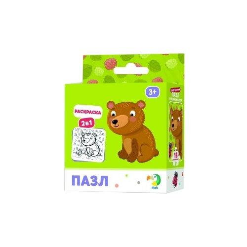 Купить Пазл Dodo Медвежонок 2 в 1 (R300120), 16 дет., Пазлы