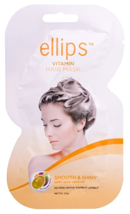 Ellips Hair Vitamin Ellips Маска для волос Smooth&Shiny с алоэ вера