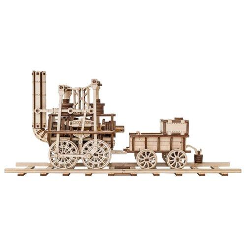 Купить Сборная модель Eco Wood Art Локомотив #1 1:25, Сборные модели