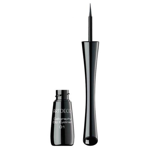 ARTDECO Подводка для век Calligraphy Dip Eyeliner, оттенок 01 black artdeco подводка ролл для век roll it disc eyeliner оттенок 1 black