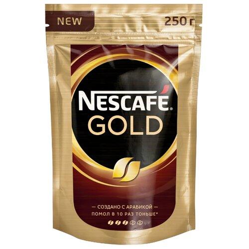 Кофе растворимый Nescafe Gold, пакет 250 гРастворимый кофе<br>