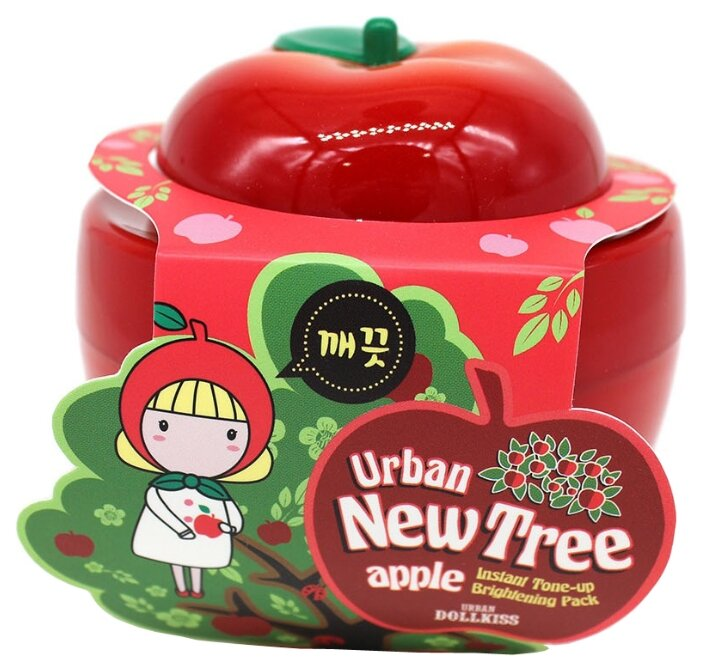 Urban Dollkiss New Tree Apple Instant Tone Up Brightening Pack осветляющая маска