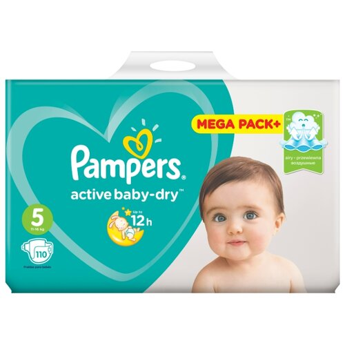 Pampers подгузники Active Baby-Dry 5 (11-16 кг) 110 шт. подгузники pampers active baby dry 5 11 16 кг 60 шт