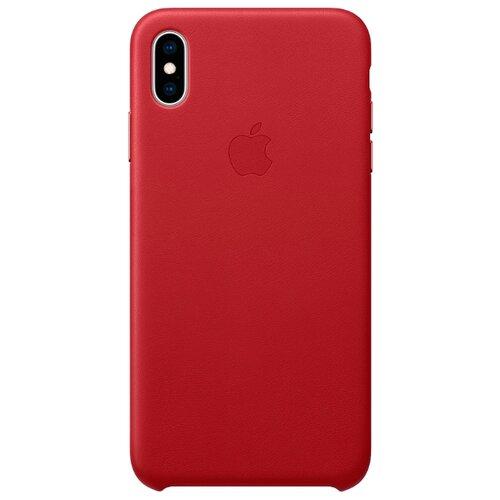 Купить Чехол Apple кожаный для iPhone XS Max (PRODUCT)RED
