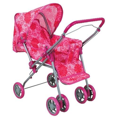 Купить Прогулочная коляска Buggy Boom Mixy (8027) розовый/цветы, Коляски для кукол