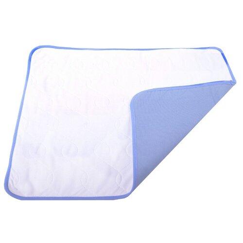 Пеленки для собак многоразовые впитывающие OSSO Fashion П-1001 60х50 см белый 1 шт. белый/синий