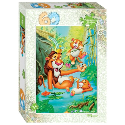 Пазл Step puzzle Любимые сказки Король Лев (81029), 60 дет. пазл step puzzle король лев 96079 360 дет