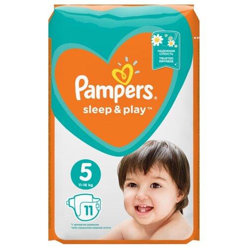 Купить Pampers подгузники Sleep&Play 5 (11-16 кг) 11 шт., Подгузники