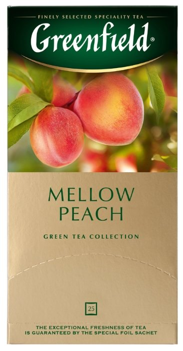 Чай зеленый Greenfield Mellow Peach в пакетиках, 25 шт.