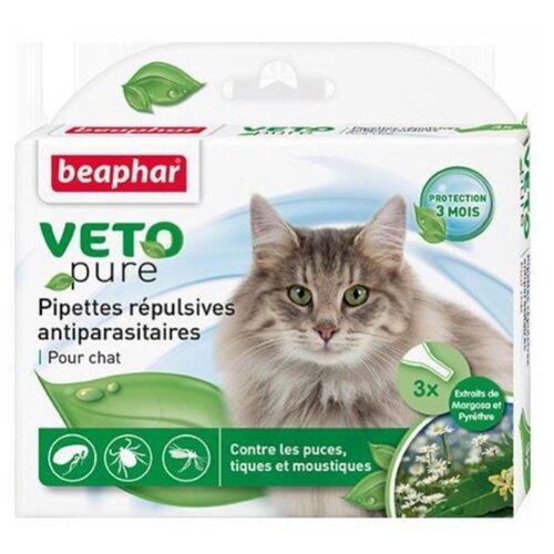 Beaphar капли от блох и клещей Veto pure для кошек