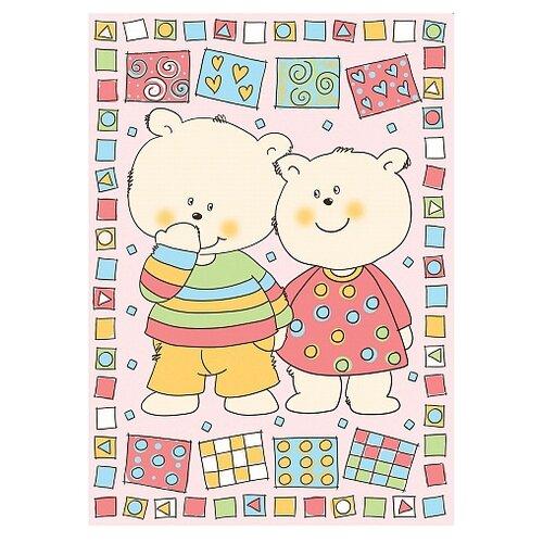 Фото - Одеяло Baby Nice D321511 100х140 см Два медведя, розовый аксессуары для колясок baby nice конверт baby nice с меховой подкладкой розовый