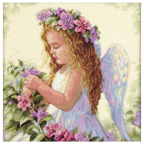 Dimensions Набор для вышивания Passion Flower Angel (Цветочный ангел) 27 х 27 см (35229), Наборы для вышивания  - купить со скидкой