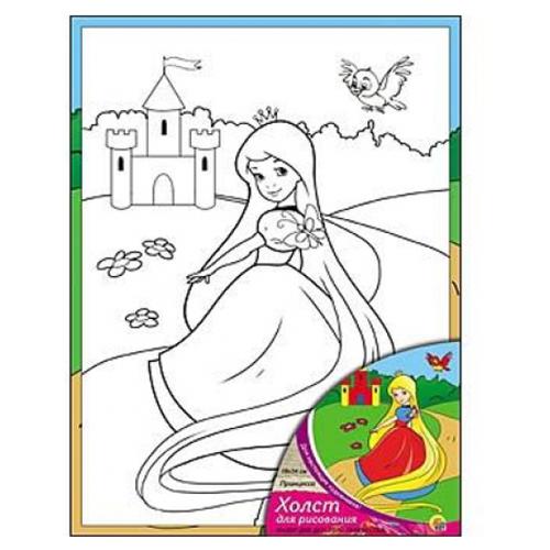 Фото - Рыжий кот Картина по контурам Принцесса 18х24 см (Х-9824) рыжий кот картина по номерам винни пух союзмультфильм 18х24 см х 5440