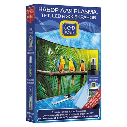 Купить Набор Top House для PLASMA, TFT, LCD и ЖК экранов (2 предмета) чистящий спрей+сухая салфетка для экрана