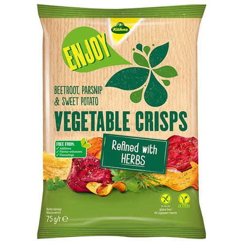 Чипсы Kuhne овощные Herbs, 75 г