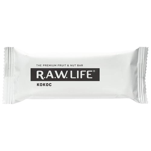 Фруктовый батончик R.A.W. Life без сахара Кокос, 47 г фруктовый батончик r a w life без сахара макадамия 47 г