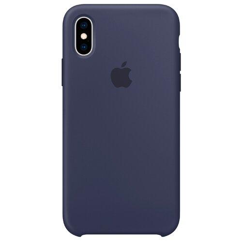 Купить Чехол Apple силиконовый для iPhone XS темно-синий