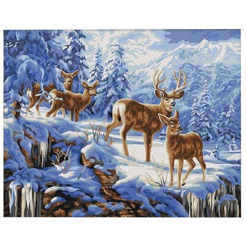 Купить Мосфа Картина по номерам Благородные олени 40х50 см (7С-0254), Картины по номерам и контурам