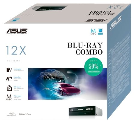 Оптический привод Blu-Ray Asus BC-12D2HT/BLK/B/AS Black
