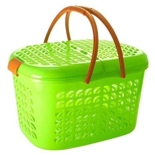 Nice&Price Корзина-переноска большая зеленый