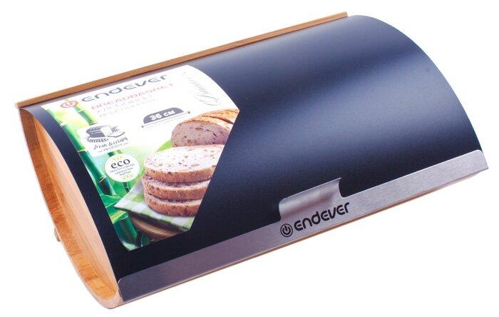 Хлебница ENDEVER Bamboo-02 черный/коричневый