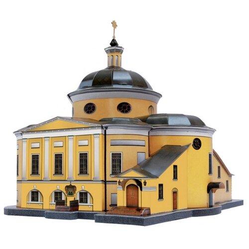 Сборная модель Умная Бумага Покровский храм ставропигиального женского монастыря (215)
