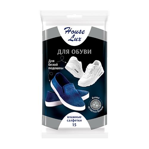 House Lux влажные салфетки для белой подошвы салфетки влажные house lux д дома антибактер универс 30шт