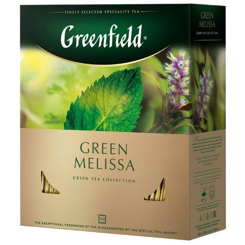 Чай зеленый Greenfield Green Melissa в пакетиках , 150 г , 100 шт.