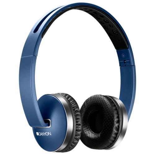 Беспроводные наушники Canyon CNS-CBTHS2 blue наушники sony mdr xb50ap blue