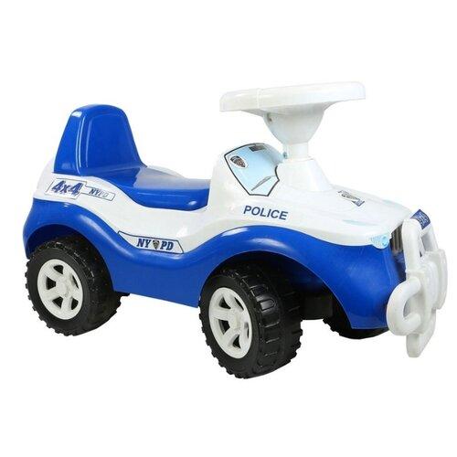 Купить Каталка-толокар RT Джипик ОР105 (5266 / 5284 / 6426 / 6525) со звуковыми эффектами бело-синий, Каталки и качалки