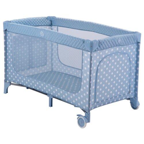 Купить Манеж-кровать Happy Baby Martin aqua, Манежи