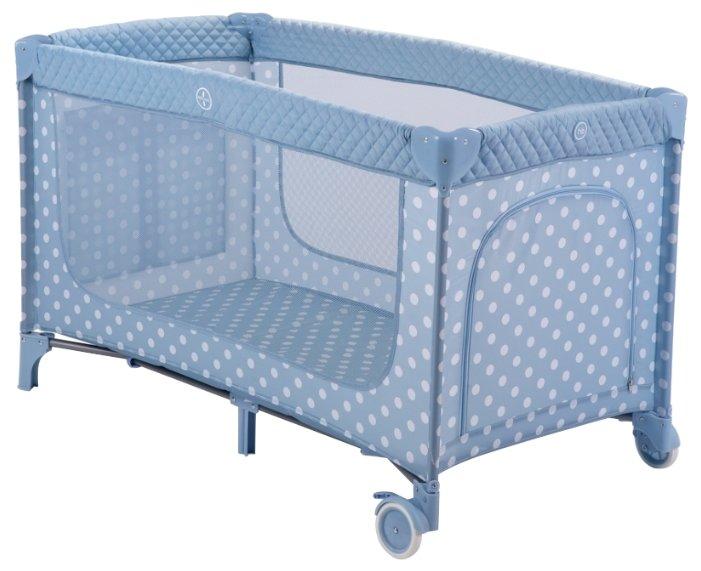 Манеж-кровать Happy Baby Martin aqua