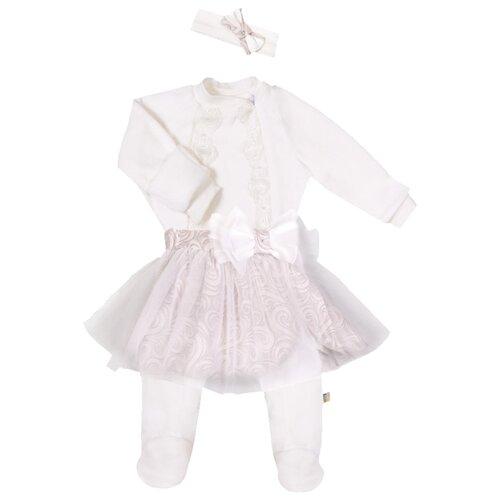 Комплект одежды Сонный Гномик размер 62, молочныйКомплекты<br>