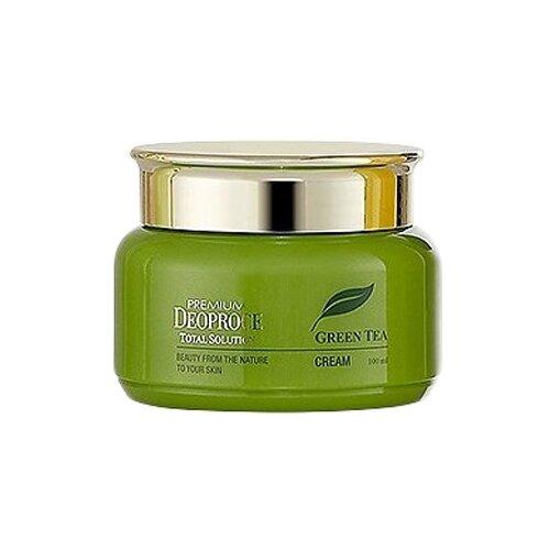 Купить Deoproce Premium Green Tea Total Solution Cream Увлажняющий крем для лица с экстрактом зелёного чая, 100 мл